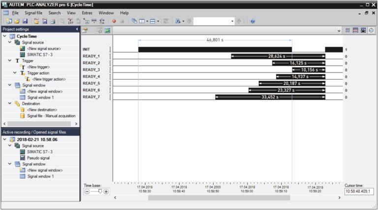 PLC-ANALYZER pro 6 - Cycle time optimization